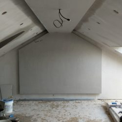 Attic PLastering Walls and Ceiling